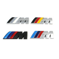 Wholesale M3 Logo Emblem - Styling M Power Rear Badge Emblem 83mm M Logo Trunk Decal Sticker for BMW 1 3 5 Series M3 M5 E46 E39 F30 F10