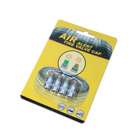 Wholesale Tire Pressure Monitor Set - 100Sets (400pcs) 2.2 Bar(32PSI) Or 2.4 Bar(36PSI) Auto Air Pressure Alert Indicator Valve Stem Monitor Sensor Caps Car Tire 1 set = 4pcs