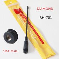 Wholesale Sma Walkie Talkie Antenna - Diamond RH701 SMA-Male antenna RH-701 For walkie talkie Wide band Frequency Yeasu Wouxun Tonfa TYT Baofeng Puxing PX-333 UV-985 ZT-2R