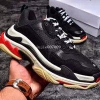 New Original Box revela novo Triple S Casual Shoe Homem Mulher Sneaker High Quality Mixed Colors Thick Heel Grandpa Trainer Shoes Double Box