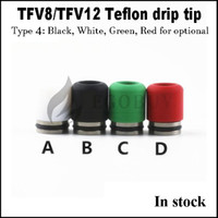 Wholesale Mouth Piece Covers - TFV8 TFV12 wide bore Drip tip Teflon plastic Mouthpiece drip tips cover mouth-piece for smok G150 G80-GX350 Stick-v8 plus baby big tfv4 BRIT