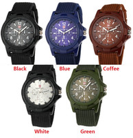 Wholesale cool military watches - fashion mens nylon fabric Military Sports Gemius ARMY Watch casual men quartz wrist watch cool style Analog wristwatch