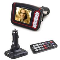 radio sd card player al por mayor-1.8 pulgadas CSTN pantalla de visualización del coche reproductor de MP3 MP4 con radio FM incorporada transmisor estéreo SD H092