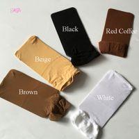 gorras de peluca de calidad al por mayor-24 unidades de 12 paquetes de color negro / marrón / beige peluca de lujo gorro tejido de malla de alta elasticidad para WIG de alta calidad