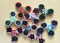 Wholesale Most Popular Kids - The most Popular camouflage Fidget Spinner toy triangle finger gyro For Autism And ADHD EDC Decompression anxiety G410
