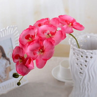 Wholesale Orchids Live - Beautiful DIY Phalaenopsis Artificial Butterfly Orchid Silk Flower Bouquet Wedding Home Living Room Decoration 20pcs lot