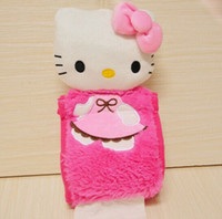 Wholesale Hello Bathroom - Wholesale- Kawaii 31*13CM Hello Kitty Hanging Home & Bathroom Tissue BAG Case Box Container Roll Paper Napkin Papers Holder BOX Case Pouch