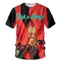 Wholesale T Shirt S Printing Machine - 2017 fashion T-shirt Men or Women 3d Tshirt Print machine Rick and morty hot style Creative Short Sleeve casual T shirt