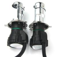Wholesale Hid Brightness - Auto Headlight Super Brightness White Light HID Xenon Front Lamp Car Headlamp 2pcs H4 H4-3 High Low 35W 6000K 3600lm for Vehicle