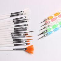 Wholesale Nail Polish Paint - 20pcs Nail Art Design Set Dotting Painting Drawing Polish Brush Pen Tools Nail Brushes for UV Nail Gel Polish Draw Pen Tools Drawing Brush
