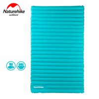 Wholesale Thick Sleeping Pad - Wholesale- Naturehike Utralight Outdoor Camping Mat For 2-4 Persons 9.5cm Thick TPU Portable Camping Hiking Tent Bed Inflatable Mattress