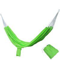 Wholesale Grey Green Bedding - Portable Hammock Parachute Nylon Fabric Net Hammock Outdoor Traveling Camping Single Person Sleeping Bed Travel Kits Free Shipping