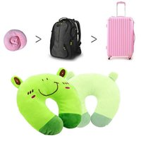 Wholesale 1 PC Cartoon Animals U Shaped Pillow Car Seat Travel Neck Support Head Rest Headrest Cushion