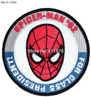 "Wholesale Marvel Comics Spider - 3"" Spider Man For Class President 1962 Marvel Comics Debut TV Movie Uniform punk rockabilly applique iron on patch Free Shipping"