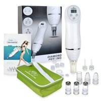 Wholesale Diamond Cleaning Machine - 6 tips mini diamond dermabrasion skin peeling beauty machine vacuum blackhead acne remove face cleaning facial equipment