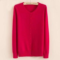 Wholesale Computer Sale Lowest Price - Wholesale- LOWEST PRICE Hot Sales 2016 Women's Cashmere Wool Knit Cardigan Female Loog Sleeves O-Neck High Quality Free Shipping