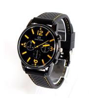coche de color del ejército al por mayor-100 unids / lote hombres de moda mujeres relojes unisex GT Sport Racing reloj de cuarzo del ejército ejército militar de cuarzo relojes de silicona 7 colores