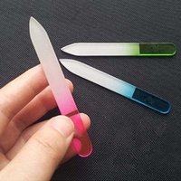 Wholesale Cn Art - Wholesale- New Durable Crystal Glass Nail Art Buffer Files Pro File Manicure Device Tool CN