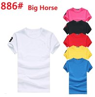 Wholesale Wholesale Horse T Shirts - Newest Fashion Big horse Short Sleeve Men shirts classic Casual Breathable Fitness High quality men T shirt Outdoor Sport T shirt 0747 -7