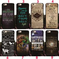 Wholesale Iphone Harry Potter - Harry Potter Marauders Hard PC Case Hogwarts Map Words Plastic Back Cover Skin 2017 Fashion Hot Arrival For iPhone 8 7 Plus 6 6S SE 5S 5
