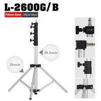 регулируемые подставки для фотоаппаратов оптовых-Легкий свет стенд портативный регулируемый свет стенды 4 секции DSLR штатив камеры L-2600G/B