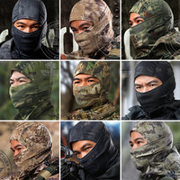 Wholesale Tactical Mask Military - Loveslf new colorful camouflage multicam balaclava tactical airsoft hunting outdoor military ski windproof protect fullface mask