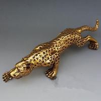 sculpture en bronze art déco achat en gros de-15 polegada Art déco Léopards Bronze Sculpture Cubisme Panthers Statue