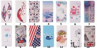 Wholesale Iphone Leather Flag - For Iphone 7 Flip Wallet Leather Cover Drawing Printing Feather Flag With Magnetic Buckle for Iphone 5s 6 6s plus 7 7 plus Samsung S6 S7