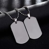 colar de tags do exército venda por atacado-Cadeia de Ligação da marca Man colar Militar Do Exército Dog Tags dos homens de Aço Inoxidável Pingente Colares de Jóias de Presente Gargantilha Atacado