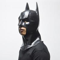 Wholesale Batman Bruce Wayne - batman mask Batman Masks Adult Halloween Mask Full Face Latex Caretas Movie Bruce Wayne Cosplay Toy Props