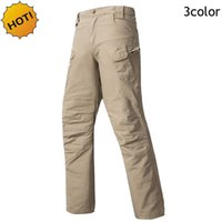 Wholesale Tactical Desert Pant - New 2017 Outdoor Hiking Climbing Executive Cargo IX7 Executive Tactical Canvas Casual Wear-resisting Slim Desert Army Military Stretch Pants