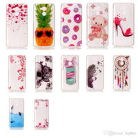 Wholesale Skins Cartoon - for Huawei Enjoy 6s Case Soft TPU Transparent Skin Cartoon Pattern Silicone Protective Back Cover Shell