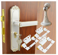 Wholesale Stoppers Lever - SY1393GW Door Hardware Set, Door Lock,Door Stopper, Door Hinge, Color Gold&White