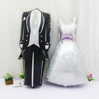 Wholesale Bride Groom Balloons - New Bridegroom Groom Bride Balloon Wedding Decoration Aluminum Foil Balloon Wedding Marriage Decoration Balloons