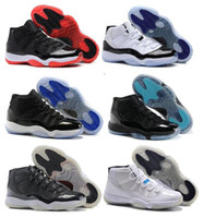 Wholesale Men Threading - High Quality Retro 11 Space Jam Bred Gamma Blue Basketball Shoes Men Women 11s Concords 72-10 Legend Blue Cool Grey Sneakers With Box