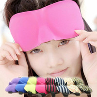Wholesale Eye Patch Sleep Mask - Hot Sale New Sleeping Eye Mask Blindfold Shade Travel Sleep Aid Cover 3D Portable Patches mix color
