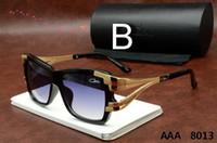 Wholesale Ca Designs - Semi-Rimless Ca zal Sunglasses 8013 Summer New Style Vintage Mens Womens Sunglasses Brand Design Oversized Frame Men Sun glasses Cazals