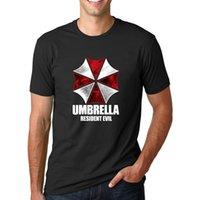 Wholesale White Flash Umbrella - Wholesale- Men's Resident Evil Umbrella Graphics Printed Short Sleve T Shirt Fashion 2017 Summer Newest O-Neck Streetwear Hip Hop Tops Tees