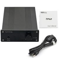 Wholesale Tripath Amplifiers - Freeshipping TOPPING TP60 TP-60 TA2022 80W x 2 Class T AMP Tripath Hifi Digital Stereo Power Amplifier 2 Analog RCA Inputs High Power