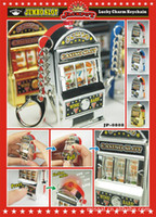 Wholesale Game Slot Machine - 1pieces lot Carry Las Vegas World most mini slot machine keychain pendant Novelty Games Amusement Toys Activity