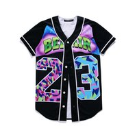 Wholesale Wholesale S Baseball Jersey - Wholesale- MTS130 Mens Buttons Homme 3D Shirt Streetwear Tees Shirts Hip Hop Bel Air 23 - Fresh Prince Custom Made Baseball Jersey
