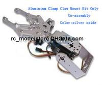 ingrosso braccio di montaggio-Freeship 1 Set 2 DOF Alluminio Robot Arm Clamp Claw Mount Kit (senza servo) Un-assembly Fit For Arduino Commercio all'ingrosso al dettaglio kit robot all'ingrosso