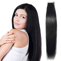 "Wholesale 125g Hair Extensions - 14""-26"" Tape in Hair Extensions Skin Weft Real Remy Human Hair Straight 60pcs 125g 2.5g pcs"