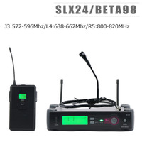 J3:572-596Mhz L4:638-662Mhz R5:800-820Mhz!! Top Quality SLX124 beta 98 Saxophone Guitar Instrument Wireless Microphone System