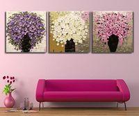 abstrakte kunst gemälde leinwand frei großhandel-Freies Verschiffen 100% Hand Gemälde Digital Ölgemälde Wandkunst Messer Moderne Leinwand Decor Abstrakte Gemälde