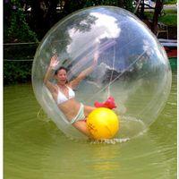 zíper para bola de água venda por atacado-Água Andando Bola Dançando Bola Esportiva 2 M Dimater 0.8mm PVC Zipper Alemão apto para crianças brincando em rios lagos parques crianças ao ar livre água