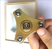 Wholesale Brass Dust - Pure Brass EDC Fidget Hand Spinner Triangle Finger Spinner Anti Stress Focus Toy for Adults Kids, Ceramic Bearing with Dust Proof Cover