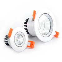 led ceiling downlight kit Canada - Hilumen FC series recessed COB LED downlight with 5W 10W 15W 20W, 100Lm W Warm white or Cool white, AC85-265V, Ceiling downlight kits