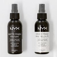 spray de belleza al por mayor-NYX Dewy Finish Mate Acabado de maquillaje Spray de ajuste de larga duración Spray de ajuste 60ML Face Beauty DHL Free