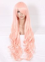 Wholesale Wig Sheryl - MCOSER The Super Dimension Fortress Macross Sheryl Princess Light Pink Long Wavy Synthetic Fashion Anime Women Cosplay Wig